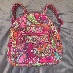 Vera Bradley Pink Swirls Campus Backpack